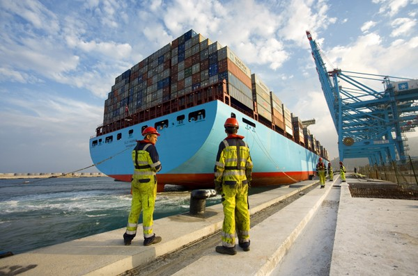 Elly Maersk Line shipping containership
