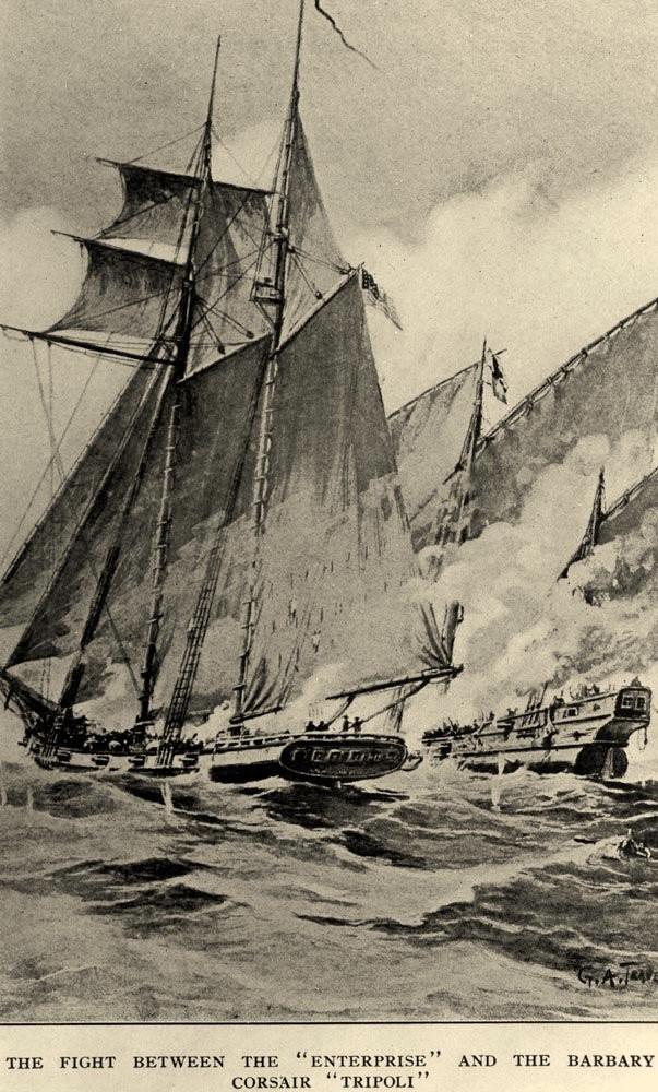 USS Enterprise Tripoli G.A. Traver naval history