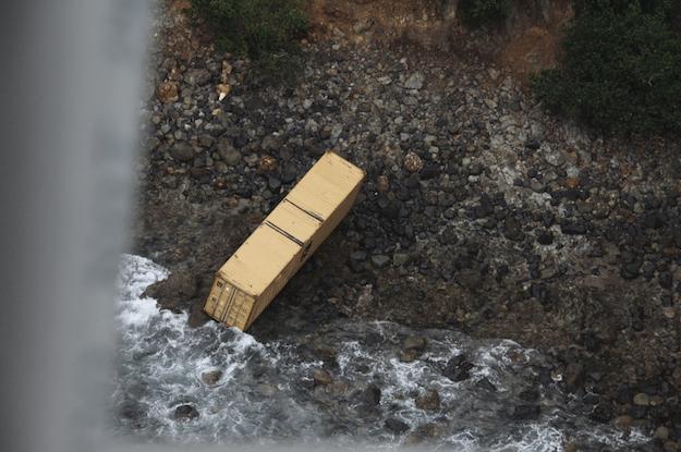 rean container ashore