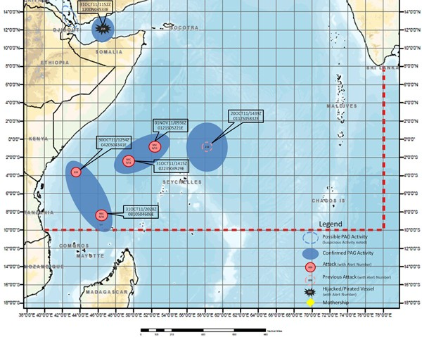Nato piracy alert map indian ocean