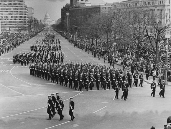 USMMA marching historical photo