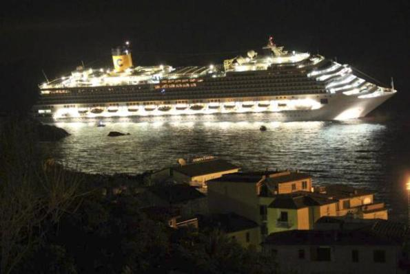 costa concordia night aground