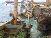 Grounded Vessel on Christmas Island, Australia Breaks in Two