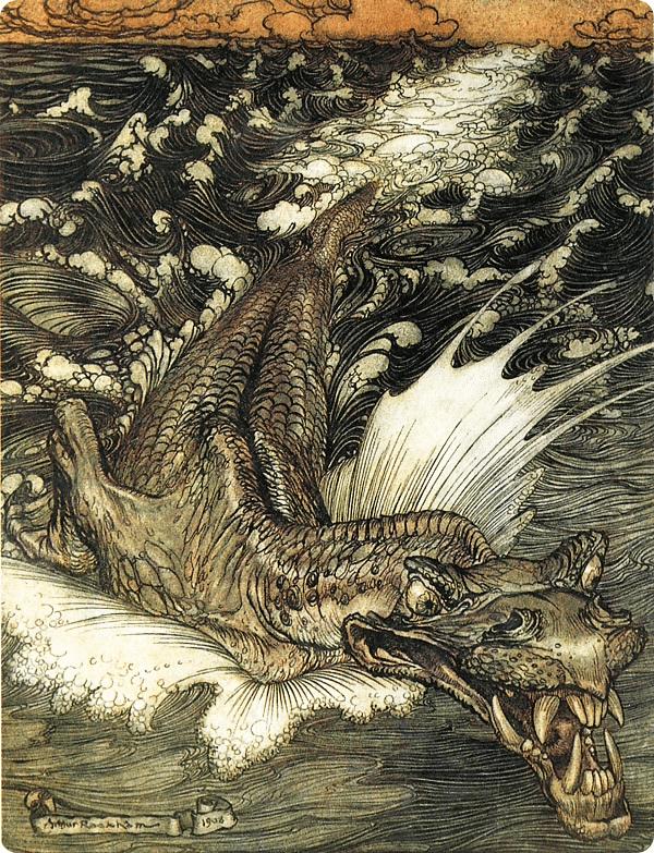 Leviathan Arthur Rackham
