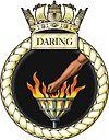 hms daring crest