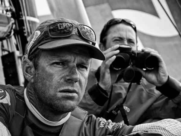 Skipper Chris Nicholson Navigator Andy McLean camper volvo ocean race