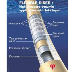 riser technip cross section