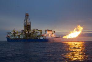 Deepwater Millennium flow test natural gas flare anadarko mozambique