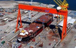 Estaleiro AtlanticoSul shipyard brazilian shipbuilding