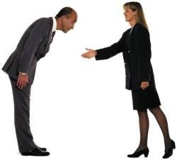 handshake bow