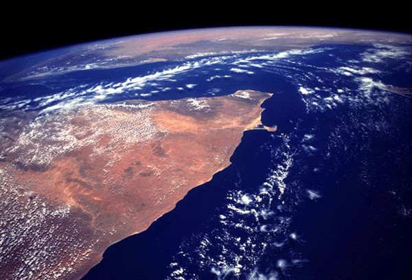 horn of africa satellite image
