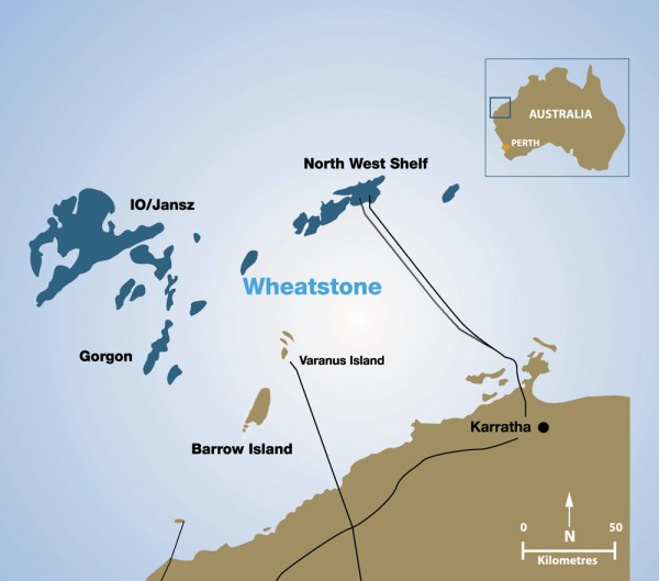 chevron wheatstone gorgon projects