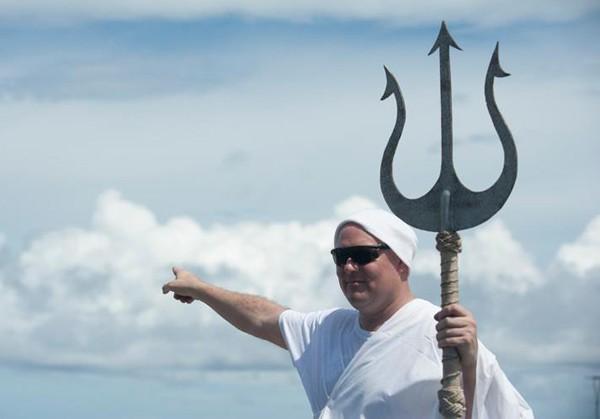 King Neptune trident us navy carl vinson