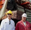 Helix ESG CEO Owen Kratz and Rig Superintendent Paul Baker at Keppel AMFELS Shipyard while the Q4000 is in drydock, (c) Robert Almeida/gCaptain