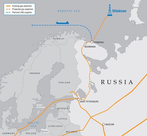 Shtokman map