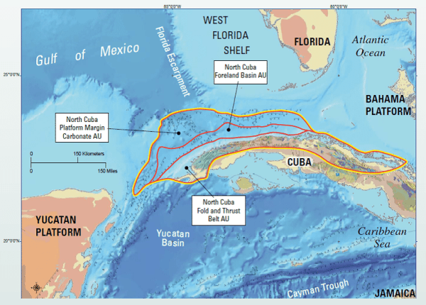 north cuban basin potential oil areas map usgs
