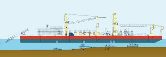 trenching vessel Castoro 16