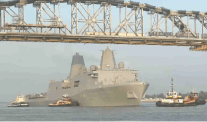 USS New York Clears Huey B. Long Bridge with Inches to Spare [VIDEO]