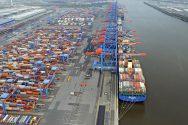 "13,000 TEU Containership ""Hyundai Together"" Calls on Port of Hamburg"