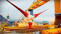 Subsea Tidal Turbine Installed And Powering Homes