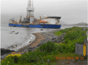 Noble Discoverer unalaska aground dutch harbor