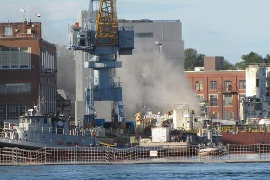 uss miami portsmouth naval shipyard fire