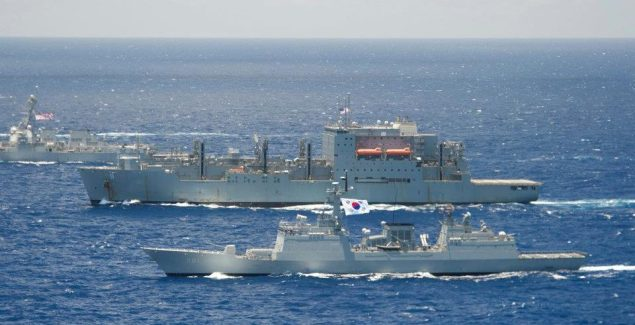 Republic of Korea ROKS Choi Young (DDH 981) USNS Matthew Perry (T-AKE 9) rimpac