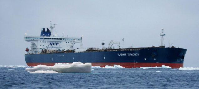 Vladimir Tikhonov Sovcomflot suezmax northern sea route tanker