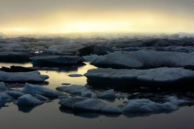 arctic ice iceland Jokulsarlon glacier lake