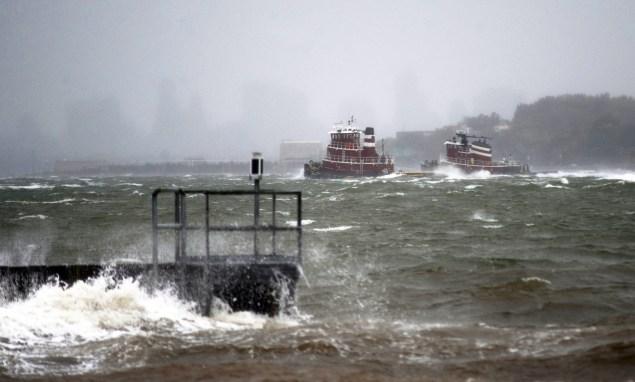 tugboats us coast guard new york hurricane sandy