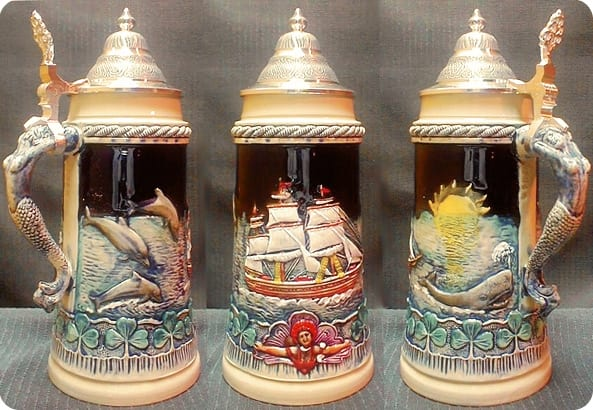 nautical beer steins Nautical Beer Steins