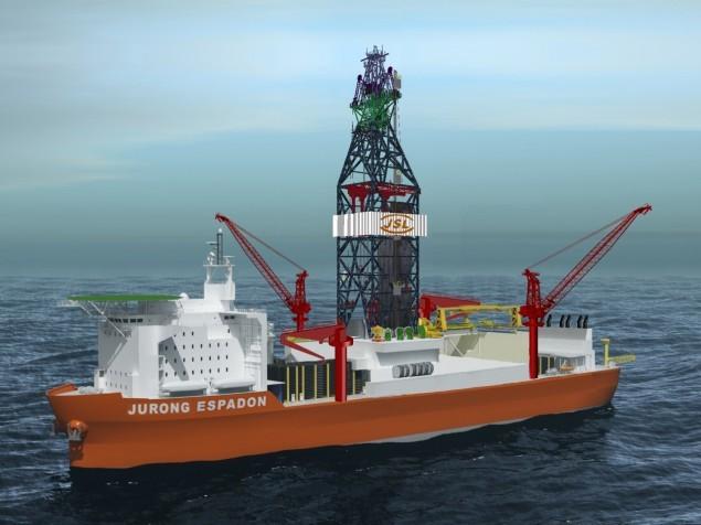 The new rig is based on Jurong Shipyard's proprietary Jurong Espadon drillship design. Image: SembMarine
