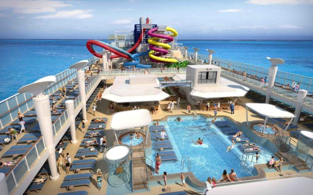 norwegian cruise line aqua park pool