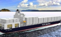 An artist's rendering of 3,400 TEU Marlin-class,  Image: General Dynamics NASSCO