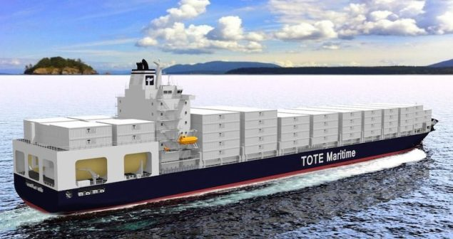 An artist's rendering of new TOTE ships,  Image: General Dynamics NASSCO