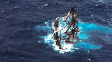 HMS Bounty Sinking USCG Photo