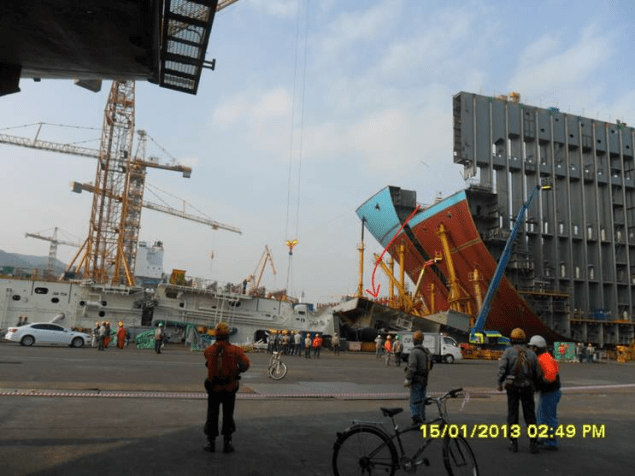 dsme shipyard incident maersk triple-E