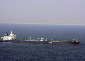Ransom being dropped by parachute to the Sirius Star on January, 9 2009.