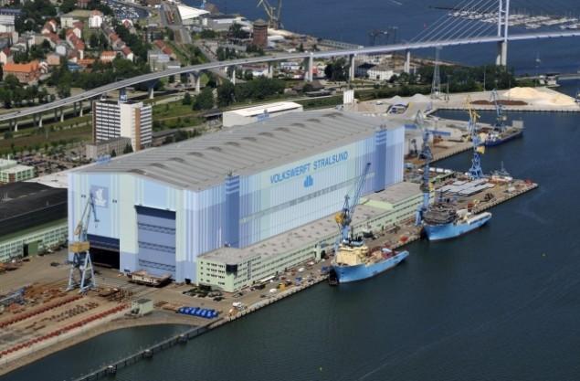 P+S Werften's Volkswerft Stralsund site