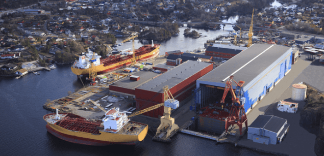 STX Europe's  yard in Florø. Image: STX Europe