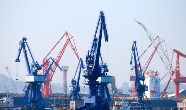 dalian shipyard china shipuilding shutterstock