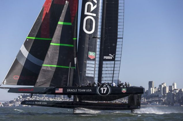 ac72 oracle racing americas cup foiling