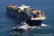 Ship Photos of The Day – Towing the World's Largest Containership