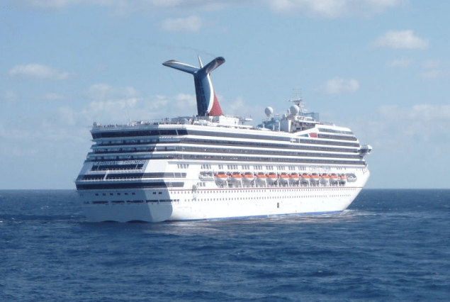 Carnival Triumph adrift in the Gulf of Mexico in February, 2013. US Coast Guard Photo