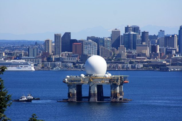 The Sea-Based X-Band Radar-1 (SBX-1) is a floating, self-propelled, mobile radar station operating as part of the U.S. Defense Department Ballistic Missile Defense System.