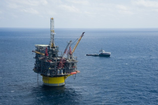 In about 8,000 feet (2,450 meters) of water, Shell's Perdido offshore drilling and production platform is the world's deepest... for now. Photo (c) Royal Dutch Shell