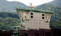 Bridge and accommodations of the M/V Majestic Maersk