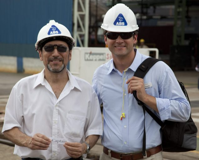 Alex Talavera, Chief Surveyor at ABS in Singapore (L) and Rob Almeida (R)
