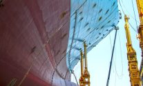 Welding On The Bow Of The World's Largest Ship
