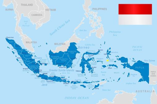 Nickel ore from Indonesia, loaded in remote ports like Obi Island (in yellow) - far from the prying eyes of regulators.